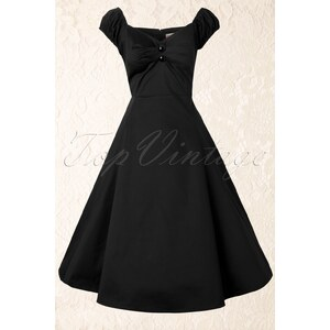 Collectif Clothing 50s Dolores Doll swing dress black