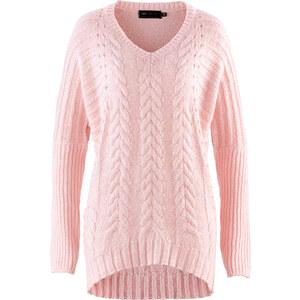 bpc selection Pullover in rosa (V-Ausschnitt) für Damen von bonprix