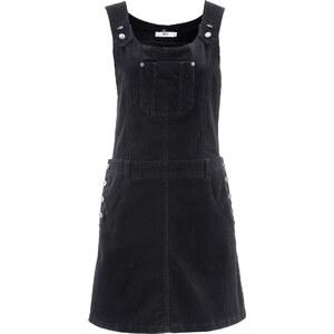 bpc bonprix collection Latz-Kleid aus Cord ohne Ärmel in schwarz von bonprix