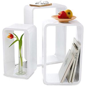 Home Collection Beistelltisch Retro (3-tlg. Set) in weiß von bonprix