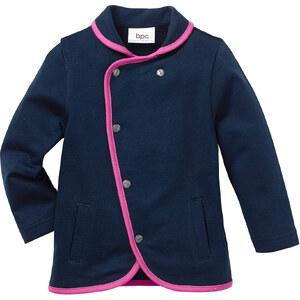 bpc bonprix collection Baby Sweatjacke Bio-Baumwolle, Gr. 68/74-92/98 langarm in blau für Mädchen von bonprix