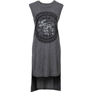 RAINBOW Shirtkleid, bedruckt/Sommerkleid ohne Ärmel in grau von bonprix