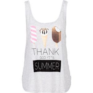 RAINBOW Shirttop, bedruckt ohne Ärmel in grau für Damen von bonprix