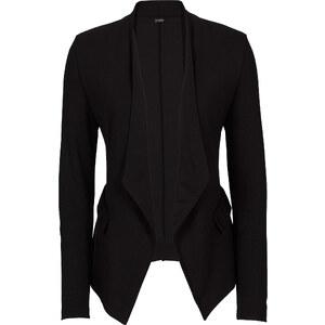BODYFLIRT Blazer matière T-shirt noir manches longues femme - bonprix