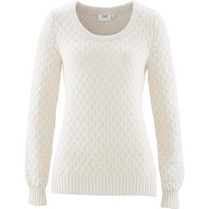 bpc bonprix collection Pull blanc manches longues femme - bonprix