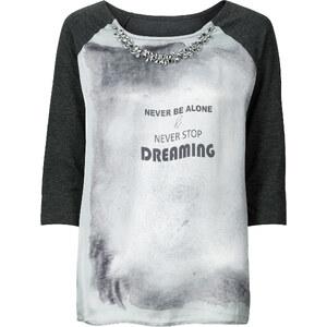 BODYFLIRT T-shirt gris femme - bonprix