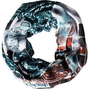 Cecil - Foulard-tube patchwork - cool water