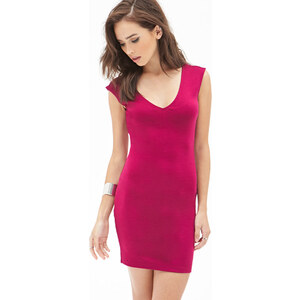 FOREVER21 Bodycon-Kleid mit V-Ausschnitt