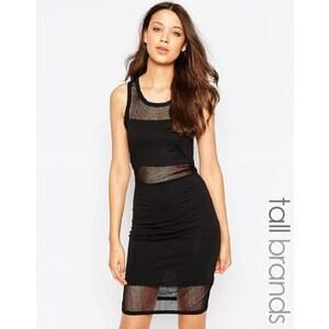 Noisy May Tall - Figurbetontes Kleid mit Netzoberlage