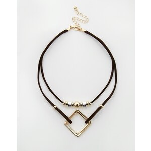 ASOS - Open Shapes - Enge Kette - Gold