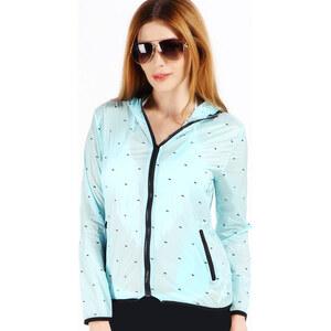 Lesara Regenjacke mit Hündchen-Muster - Blau - S