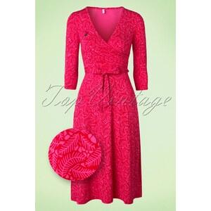 Blutsgeschwister 60s Her Highness Hidden Jungle Dress in Pink