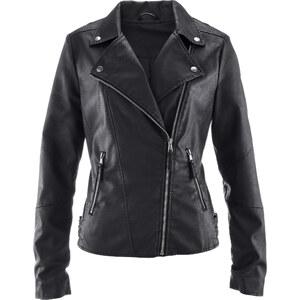 bpc bonprix collection Blouson en synthétique imitation cuir noir femme - bonprix