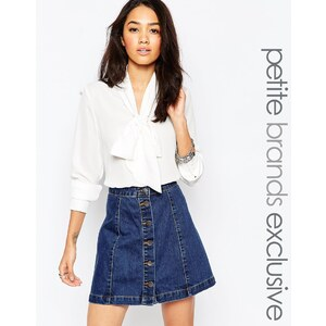 Glamorous Petite - Bluse mit Schalkragen - Cremeweiß