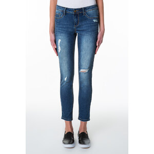 Tally Weijl Dunkle Jeans mit Destroyed Effects