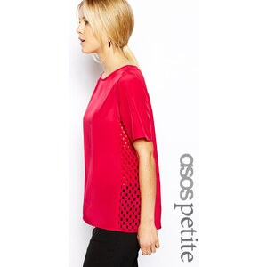 ASOS PETITE Exclusive T-Shirt With Laser Cut Sides