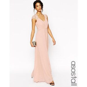 ASOS TALL - Kate - Maxi robe en dentelle - Bleu