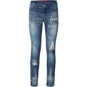RAINBOW Jean skinny bleu femme - bonprix