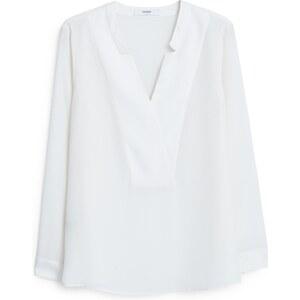 MANGO Fließende, Strukturierte Bluse