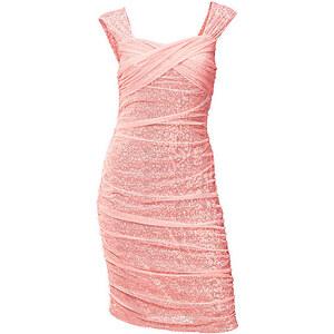 Paillettenkleid, Ashley Brooke Event, rose, Elegant raffiniertes Kleid in 2 Lagenoptik