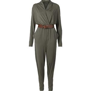 BODYFLIRT boutique Combipantalon avec ceinture vert femme - bonprix