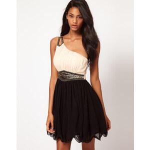 Little Mistress – Kleid mit Verzierung an Schulter und Taille