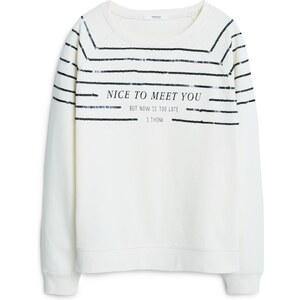 MANGO Baumwoll-Sweatshirt Mit Aufschrift