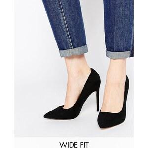 ASOS - PLAYFUL - Chaussures larges à talons et bouts pointus - Noir