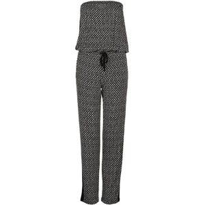 LASCANA Jumpsuit schwarz/beige