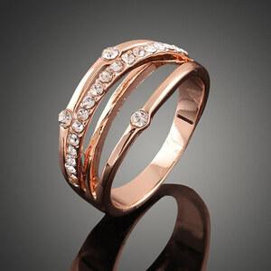 Lesara Ring mit Strass-Steinen
