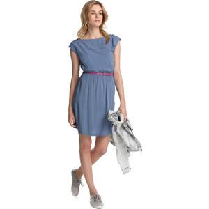 Esprit Seidiges Kleid mit Gürtel