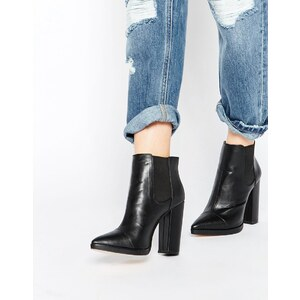 ASOS - EASY TO KNOW - Chelsea-Ankle-Boots mit Spitze - Schwarz
