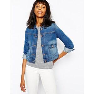 Monki - Clean - Hochwertige Jeansjacke - Blau