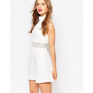 ASOS - Strukturiertes Kleid mit hohem Kragen und Spitzeneinsätzen - Enteneier-Blau 19,49 €