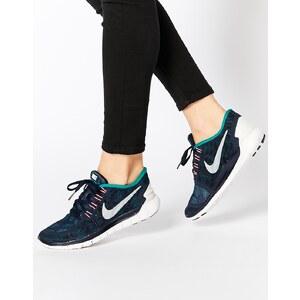 Nike - Free 5.0 - Gemusterte Turnschuhe