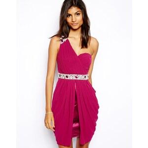 Lipsy – VIP – Verziertes Kleid mit One-Shoulder-Träger