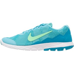 Nike Performance FLEX EXPERIENCE RN 4 Laufschuh Dämpfung pale blue/green glow/blue lagoon/white