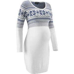 bpc bonprix collection Robe de grossesse en maille à motif norvégien blanc manches longues femme - bonprix