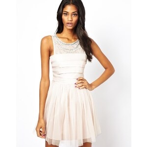 Lipsy Embellished Mesh Skirt Dress