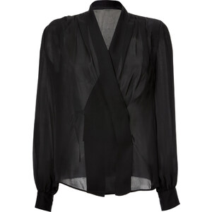 Emilio Pucci Silk Layered Front Blouse