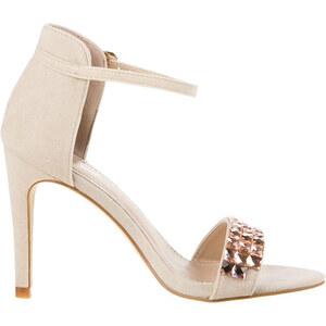 Lesara High Heel-Sandale in Leder-Optik - 40