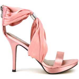 Sandale de Soirée Rose en Satin - Cendriyon