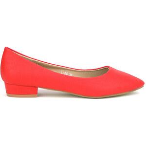 Ballerine rouge ELLA LUX - Cendriyon