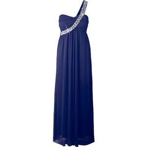 BODYFLIRT Robe longue asymétrique bleu sans manches femme - bonprix