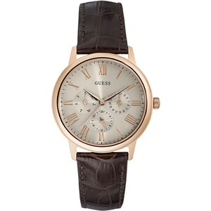 Guess Montre en cuir - marron
