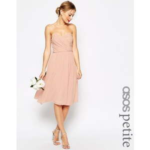 ASOS PETITE - WEDDING - Mittellanges Baneau-Kleid - Nude