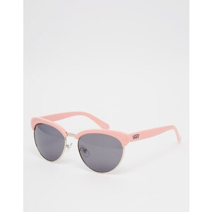 Vans - Katzenaugen-Sonnenbrille mit halbem Gestell - Flamingorosa