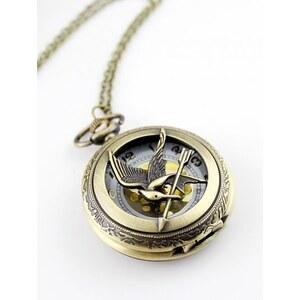 SheInside Gold Chain Bird Watch