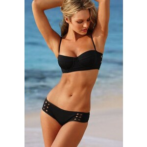 SheInside Black Cut Out Push Up Top with Bottom Swimsuit