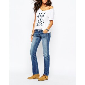 Hollister - Skinny-Jeans in Rinse-Waschung - Mittelblau